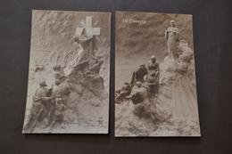 Carte Postale 1910 Lot De2 Cartes Patriotique La Foi La Charité - Patriotiques