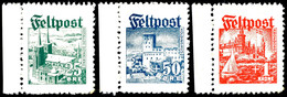 """+ 25 Öre Bis + 1 Krone """"Ansichten 1944"""", Kompletter Satz Mit Drei Werten, Tadellos Postfrisch, Mi. 1.200.-, Katalog: I/I - Dänemark"""