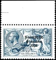 1922, 10 Sc. Seepferd, Aufdruck Type I, Mit Oberrand, Tadellos Postfrisch, Unsigniert, Kabinett, Mi. 400.-, Katalog: 39I - Non Classés