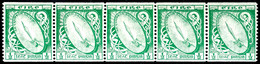 1922, 1/2 Pg Freimarke Hellgrün, Rollenmarke, 5er-Streifen, Tadellos Postfrisch, Unsigniert, Mi. 450.-, Katalog: 40B(5)  - Non Classés