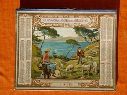 Calendrier 1916. Dans Les Calanques De Piana , Corse , J.L.Beuzon. - Calendars
