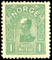 1907, 1 Kr. König Haakon VII. Hellgrün, Tadellos Postfrisch, Unsigniert, Kabinett, In Postfrischer Erhaltung Nicht Häufi - Norwegen