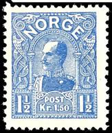 1907, 1 1/2 Kr. König Haakon VII. Ultramarin, Tadellos Postfrisch, Unsigniert, Kabinett, In Postfrischer Erhaltung Selte - Norwegen