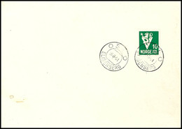 """1941, 10 Ö. Wappenlöwe Auf Blanko-Vor-FDC Von """"OSLO ELISENBERG 16.8.41"""" - Zwei Tage Vor Dem Offiziellen Ausgabetag -, Ta - Norwegen"""
