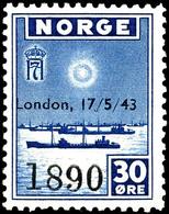 1943, 10 - 60 Ö. Freimarken Der Exilregierung Mit London-Aufdruck, 6 Werte Komplett, Postfrisch, Tadellos, In Dieser For - Norwegen