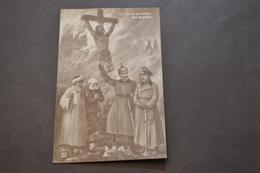 Carte Postale 1910 Le Christ Au Milieu Des Bandits - Patriotiques