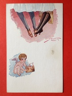 Illustrateur GEXEY - LANGAGE DES JAMBES - DE TAAL VAN DE BENEN - ONDER TAFEL - SOUS LA TABLE - CUPIDO - AMOR - ANGE - Illustrateurs & Photographes