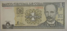Billet De Cuba De 1 Peso 2003 Pick 121b Neuf/UNC - Cuba