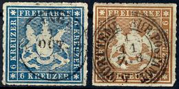3 Und 6 Kr Je Tadellos Zentrisch Gestempelt, Gepr. Thoma BPP, Mi. 170.-, Katalog: 32a+33a O - [ 1] …-1871: Altdeutschland