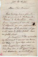 VP14.830 - PARIS - LAS - Lettre Autographe Mme Euphrasie BORGHESE ( Soprano Français / Opéra - Comique ) - Autographs