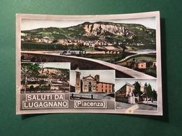 Cartolina Saluti Da Lugagnano - Piacenza - Asilo - La Chiesa - 1950 - Piacenza