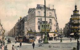 Belgique - Bruxelles - Place De Louvain - Les Trams - Couleurs - Places, Squares