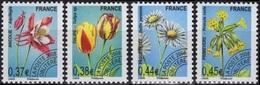 FRANCE Préo 253 à 256 ** MNH Fleur Sauvage Tulipe Primevère Ancolie Pâquerette (CV 12 €) - Precancels