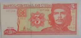 Billet De Cuba De 3 Pesos  2004 Pick 123 Neuf/UNC - Cuba