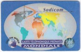 FRANCE C-440 Prepaid Sodicom - Map, World - Used - Francia