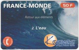 FRANCE C-458 Prepaid Kosmos - Landscape, Coast, Wave - Used - Frankreich