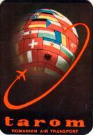 Romania, 1977, Vintage Pocket Calendar - TAROM Airlines Advertising - Documentos Históricos