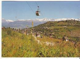 CPM/CPSM - VERCORIN - Vue Générale, Au Fond Crans-Montana Et Les Alpes Bernoises - VS Valais