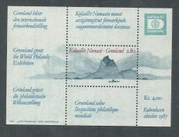 """Groenland BF N° 2 XX  """"Hafnia '87"""", Exposition Philatélique à Copenhague ( II )., Le Bloc Sans Charnière, TB. - Blocs"""