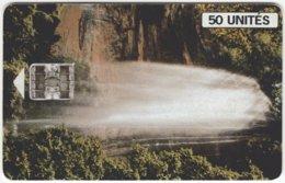 GUINEA A-014 Chip SoTelGui - Landscape, Waterfall - Used - Guinea