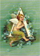CPM (S) - ALPHABET COMPLET, 26 Lettres De A à Z - RARE - ANGELOTS - Reproduction, Format : 10,5 X 15 Cms - Fantaisies