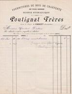 AMBERT POUTIGNAT FRERES FOURNITURES DE BOIS DE CHARPENTES SCIERIE HYDRAULIQUE ANNEE 1897 - France
