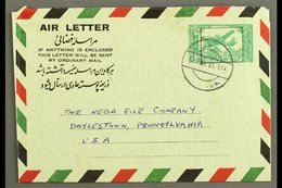 AEROGRAMME  1963 6a Green On Pale Green, Kessler 3, H&G 3, Rare Commercial Use From Kabul To USA, Fine Condition. For Mo - Afghanistan