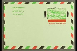 AEROGRAMME  1972 8a On 14a Green, Red & Black, Type II With Black SURCHARGE INVERTED Variety, Very Fine Unused. For More - Afghanistan