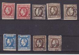 ROUMANIE : 9 EX . * ET OBL . 1871/72 . - 1858-1880 Moldavia & Principato