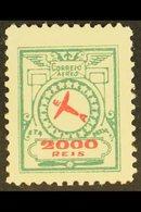 ETA  1939 2000r Green & Red On Thick Paper Air Local Private Company (Scott 2CL4, Michel E4), Fine Mint, Fresh. For More - Unclassified