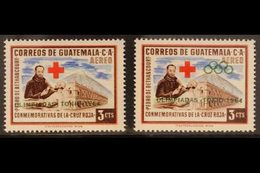 1964 VARIETY  3c Air Olympics Overprint On Red Cross Issue With OLYMPIC SYMBOL OMITTED Variety (Scott C285 Var, SG 710 V - Guatemala