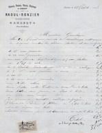 AMBERT RAOUL RONZIER PLATRIER PEINTRE VITRERIE CREPISSAGE ANNEE 1898 - France
