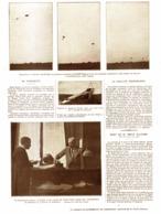 """EN PARACHUTE  AVEC   L 'AVIATEUR   """" PECOUD """"  1913 - Transportation"""