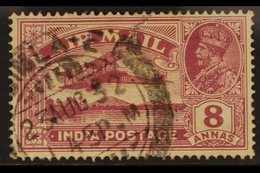 """1929 VARIETY  8a Purple Bearing """"REVERSED SERIF"""" Variety, SG 224b, Cds Used For More Images, Please Visit Http://www.san - India"""