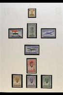 1946-56 FINE MINT COLLECTION  Presented In Mounts On Album Pages. Includes 1948 Gandhi Set (the 10r With Small Perforati - India