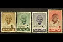 1948  Gandhi Complete Set, SG 305/08, Never Hinged Mint, 10r With Minor Rub, Fresh. (4 Stamps) For More Images, Please V - India