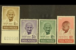 1948  Gandhi Complete Set, SG 305/08, Very Fine Mint, Very Fresh. (4 Stamps) For More Images, Please Visit Http://www.sa - India