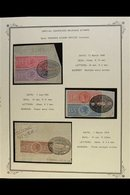 """REVENUES  1868-1930 FINE USED """"SPECIAL ADHESIVES"""" COLLECTION Neatly Presented In Mounts On """"Scott"""" Album Pages. An Occas - India"""