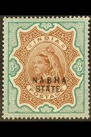 """1885-1887  3r Brown & Green """"Nabha State"""" Opt'd, SG 32, Very Fine Mint For More Images, Please Visit Http://www.sandafay - Unclassified"""