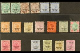 FARIDKOT  1887-1898 MINT SELECTION On A Stock Card That Includes 1887-1900 Set (less 4d), 190 3p & Officials To 6a & 8a. - Unclassified