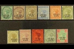 JIND  1886-99 Set To Both 1R, SG 17/32, Fine Mint. (11 Stamps) For More Images, Please Visit Http://www.sandafayre.com/i - Unclassified