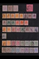 INDORE  1886-1940 MINT & USED COLLECTION On Stock Pages, Includes 1886 ½a (x3 Shades) Mint, 1889 ½a Type I Used, 1889-92 - Unclassified