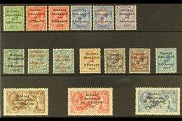 1922  Dollard Overprinted Set With Shade & Coloured Opt Variants, SG 1/9 & High Value Set Of Three SG 18/21, Very Fine M - Ireland