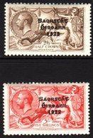 1927-28  2s 6d And 5s Seahorses SG 86/87, Fine Mint. (2) For More Images, Please Visit Http://www.sandafayre.com/itemdet - Non Classés