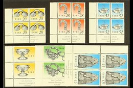 1995 ENSCHEDE IMPRINT BLOCKS  A Complete Set Of The Enschedeprinted Heritage & Treasure Definitive Set, Hib D155/160 As - Ireland