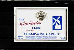 Etiquette - Champagne  Gardet  Brut    THE WIMBLEDON  CLUB 1854-2004 - Champagne