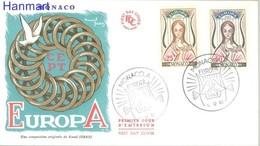 Monaco 1963 FDC ( FDC ZE1 MNC742-743b ) - Monaco