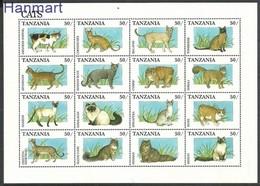 Tanzania 1991 Mi 990-1005 MNH ( ZS4 TNZark990-1005 ) - Chats Domestiques