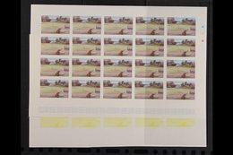 1986 PROGRESSIVE COLOUR IMPERF PROOFS.  Tourism Complete Set (SG 710/23) - Each Value With Seven Different Progressive C - Montserrat