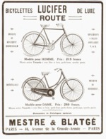 """PUB BICYCLETTE  """" LUCIFER """"  1913   ( 1 ) - Transportation"""